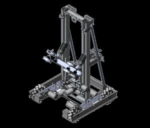 Team 555's original CAD for their 2019 robot, Spirit.